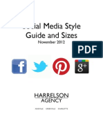 Social Media Marketing Sizes Cheat Sheet