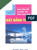 Chuyen de Luyen Thi Dai Hoc Bat Dang Thuc