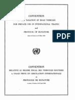 Convenio relativo al régimen fiscal de los vehículos particulares de carretera en circulación internacional. Ginebra, 18 de mayo de 1956