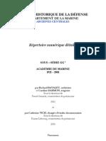 SHD - Departement de La Marine. Archives Centrales - Academie de Marine