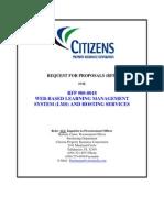 01 - RFP 08-0018 - Web-Based Learning Management System (LMS) & Hosting Services - Word