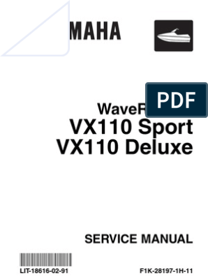 SERVICE MANUAL WATERCRAFT VX1100 | Throttle | Screw