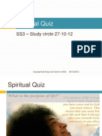 Spritual Quiz, by Sathya Sai Centre of SS3