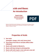 Acids and Bases. an Introduction