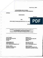 34642 Respondent's Submission Filed with Supreme Court of Canada responding to  Applicant's November  28, 2011  Notice of Motion Leave to Appeal to the Supreme Court of Canada
