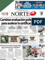 Periodico Norte de Ciudad Juárez 30 de Diciembre de 2012