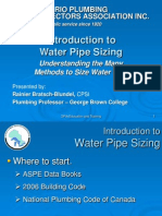 Introduction to Water Pipe Sizing