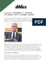 Volumi record in borsa per accordo Prelios - Feidos di Massimo Caputi