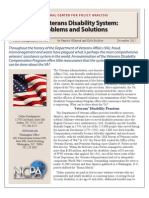 The Veterans Disability System Problems and Solutions