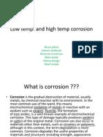 low temperature corrision