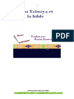 sheikh al islam ibn Taimiya (rahimahoulah) et la bible