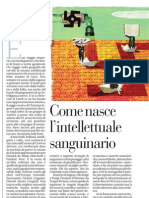 Come Nasce l'Intellettuale Sanguinario - La Repubblica 30.12.2012