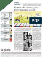 La classifica dei libri della «Lettura» 2012 - La Lettura 30.12.2012