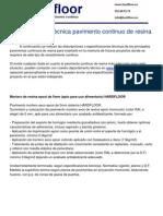 Especificación técnica pavimento continuo de resina epoxi