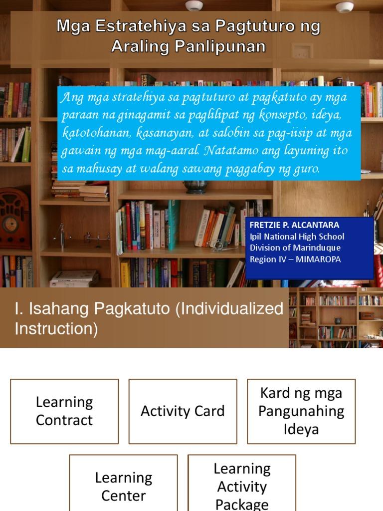 estratehiya ng pagtuturo ng filipino