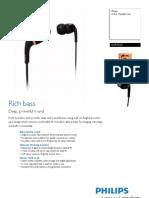 Philips SHE9550 Headset