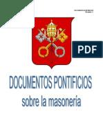 Documentos pontificios sobre la masonería