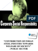 Contribution of Indian Steel Industry Towards Welfare