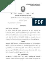 Sentenza TAR Basilicata contro chiusura Sezione Distaccata di Pisticci