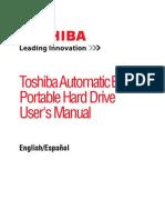 Toshiba 1TB External Hard Drive User's Manual