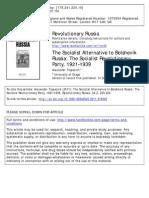 a.trapeznik the socialist alternative to bolshevik russia:the socialist revolutionary party 1921-939