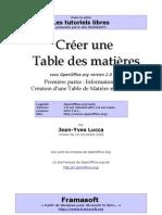 Table Matières 1èrepartie