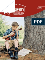 Kinhaven Summer Music School 2013 Brochure