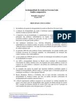 Reducão da desigualdade da renda no Governo Lula - Análise Comparativa