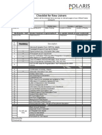 Joining Kit - Checklist & Declarations