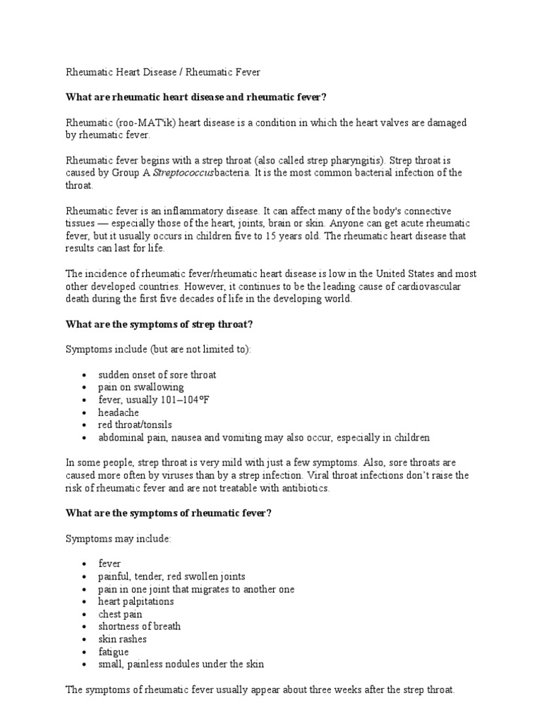 rheumatic heart disease   Diseases And Disorders   Medical Specialties