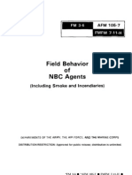 Field Behavior Of NBC Agents (Including Smoke And Incendiaries)
