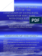 Welcome to All of You in the power point persentation of hdfc bank saving account