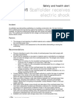 06-01 Scaffolder Recieves Electric Shock
