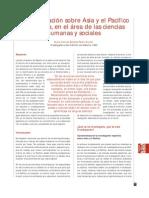 Las investigaciones sobre Asia-Pacífico en España