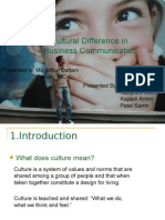 Cultural Difference in Business Communication