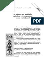 Fernando Henrique Cardoso as Classes Nas Sociedades Capitalist as Contemporaneas REP1982