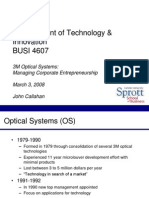 3m optical systems managing corporate entrepreneurship