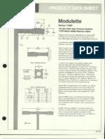 Moldcast Lighting Product Data Sheet Modulette 1983
