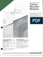 Moldcast Lighting Ceiling Mounted Modules HPS Spec Sheet 4-89