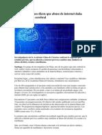 internet y cerebro