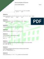 Actividades II de Polinomios (4º ESO)