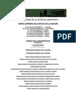 Estructura Justicia Argentina