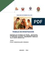 Ruben Escalante Frisancho, Propuesta de Modelo de Gestion Para La Calidad Educativa (Publicado e