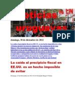 Noticias Uruguayas domingo 30 de diciembre del 2012