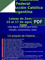 XXVIª Asamblea Federal ACA 2009 - Resumen