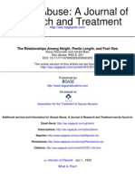 The Relationships Among Height, Penile Length, and Foot Size