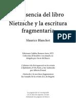 Nietzsche y La Escritura Fragmentaria
