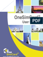 one sim card manual