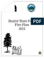 2012 Baxter State Park Fire Plan