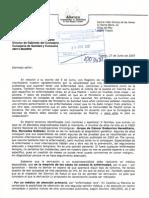 Petición a la Consejería de Sanidad de Madrid - año 2007